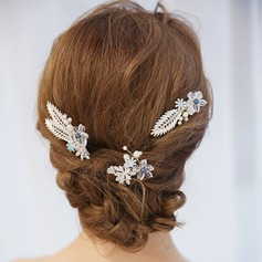 Ladies Pretty Alloy Hairpins With Venetian Pearl (Set of 3)