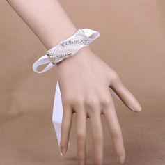Simple And Elegant Satin/Crystal Wrist Corsage