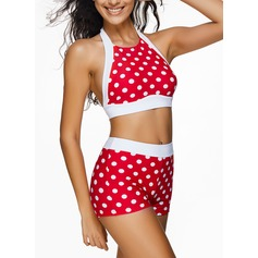 Fashional Dot Chinlon Spandex Bikinis Swimsuit