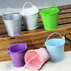 Lovely Cilindro Metal Latas de favor e baldes