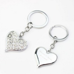 Personalized Heart Shaped Zinc Alloy Keychains  (118031772)