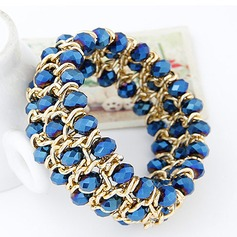 Shining Alloy With Resin Ladies' Fashion Bracelets