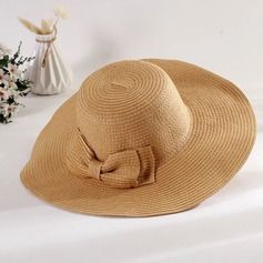 Ladies' Special/Elegant/Eye-catching Raffia Straw With Bowknot Straw Hat