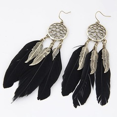 Mode Alliage avec Feather Dames Boucles d'oreille de mode