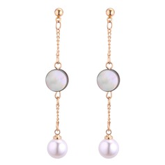 Nice Imitation Pearls Acrylic Copper With Imitation Pearl Women's Fashion Earrings (Set of 2)