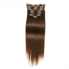 4A Non remy Straight Human Hair Clip in Hair Extensions 8pcs 100g
