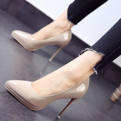 Women's Leatherette Stiletto Heel Pumps Closed Toe shoes (085111611)