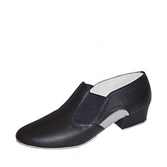 Women's Real Leather Heels Latin Ballroom Practice Character Shoes Dance Shoes