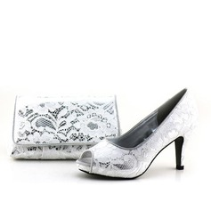 Shining Lace Shoes & Matching Bags