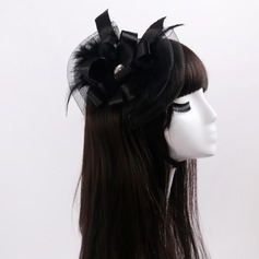 Ladies' Beautiful Cambric/Feather/Lace/Tulle With Rhinestone/Bowknot Fascinators