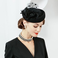 Dames Simple/Jolie/Qualité Coton avec Tulle Béret Chapeau/Chapeaux Tea Party