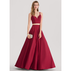 Sweetheart Floor-Length Satin Bridesmaid Dress