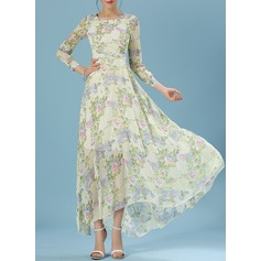 Chiffon With Print Maxi Dress (199135916)