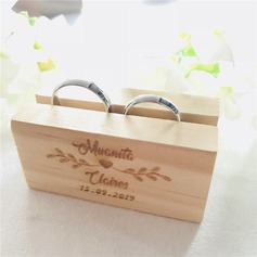 Personalized/Rustic Wood Ring Holder