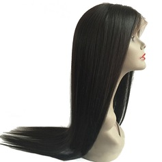 5A Virgin/remy Straight Human Hair Lace Front Wigs (Sold in a single piece) 90g