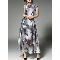 Chiffon With Print/Crumple Maxi Dress (199132943)
