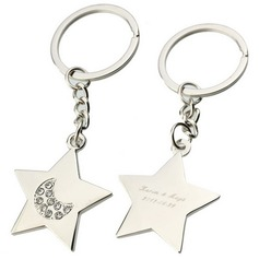 Personalized Stars Zinc Alloy Keychains  (20 letters or less)