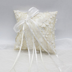 Elegant/Delicate Cloth Ring Pillow With Sash