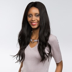 4A Non remy Straight Human Hair Lace Front Wigs 170g