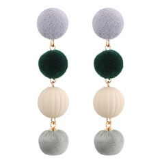 Fashional Acrylic Copper Cloth Women's Fashion Earrings (Set of 2)
