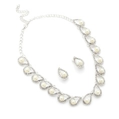 Beautiful Alloy/Pearl/Rhinestones Ladies' Jewelry Sets