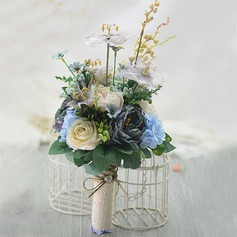Elegant Free-Form Artificial Silk Bridal Bouquets