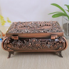 Vintage Flower Designed Alloy Ladies' Jewelry Box