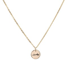 Personalized Ladies' Elegant Gold Plated Engraved Necklaces For Bride/For Bridesmaid