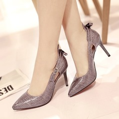 Women's Leatherette Stiletto Heel Pumps With Buckle Hollow-out shoes (085115155)