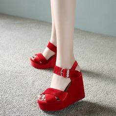 Women's Wedge Heel Wedges With Buckle shoes