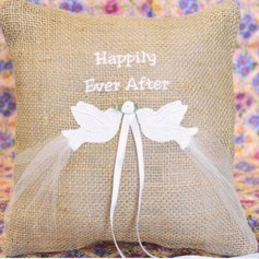 Birds Ring Pillow in Cloth With Bow