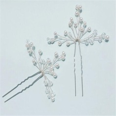 Beautiful Crystal/Imitation Pearls Hairpins (Set of 2)