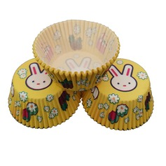 Cute Rabbit Pearl Paper Cupcake Wrappers