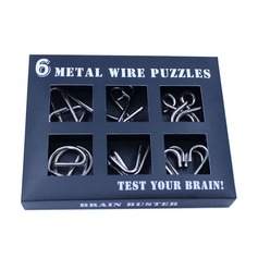 Toys Modern Metal Brain Teaser Puzzle Set Gifts