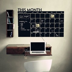 Blackboard Calendar Record Printed Wall Sticker (Sold in a single piece) (203168026)