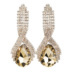 Classic Alloy Rhinestone Earrings For Bride (011221144)
