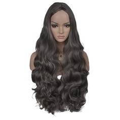 Loose Wavy Synthetic Hair Capless Wigs 310g