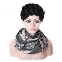 High temperature Curly Pixie Synthetic Wigs African American Wigs