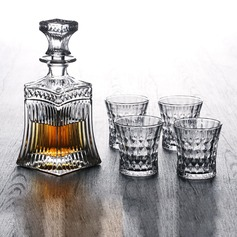 Groomsmen Gifts - Vintage Glass Decanter Set (258184291)