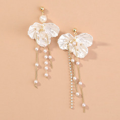 Unique Alloy/Pearl/Rhinestones Earrings