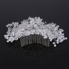 Elegant Crystal/Imitation Pearls Combs & Barrettes (Sold in single piece)