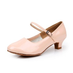 Women's Kids' Leatherette Heels Pumps Swing Character Shoes With Buckle Dance Shoes