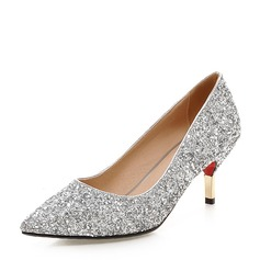 Women's Sparkling Glitter Stiletto Heel Pumps Closed Toe With Others shoes (085146864)