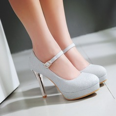 Women's Sparkling Glitter Stiletto Heel Closed Toe Wedges shoes (085117486)