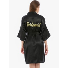Bridesmaid Blank Robes Glitter Print Robes