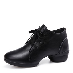 Women's Real Leather Modern Jazz Sneakers Dance Shoes