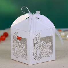 Delicate Laser Cut Favor Boxes With Ribbons