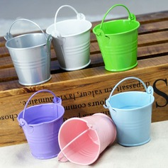 Lovely Cylinder Metal Favor Pails/Favor Tins & Pails