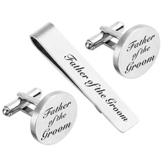 Groom Gifts - Modern Alloy Cufflinks Tie Clip