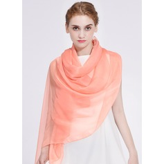 Solid Color Light Weight/Oversized/Shawls Polyester Scarf (204172823)
